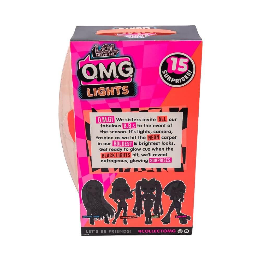 Большая кукла LOL Surprise OMG Lights Speedster Fashion Doll с 15 сюрпризами, разноцветная - 4